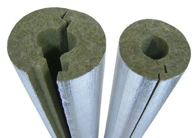 Утеплительный фольгированный цилиндр из минеральной ваты