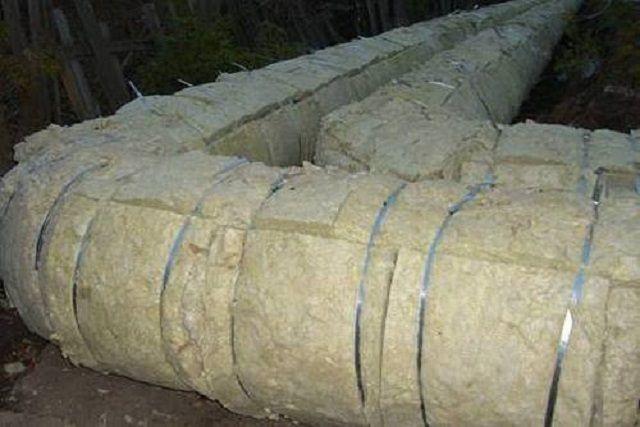 Утепление труб минеральной ватой - требуется обязательная внешняя гидроизоляция
