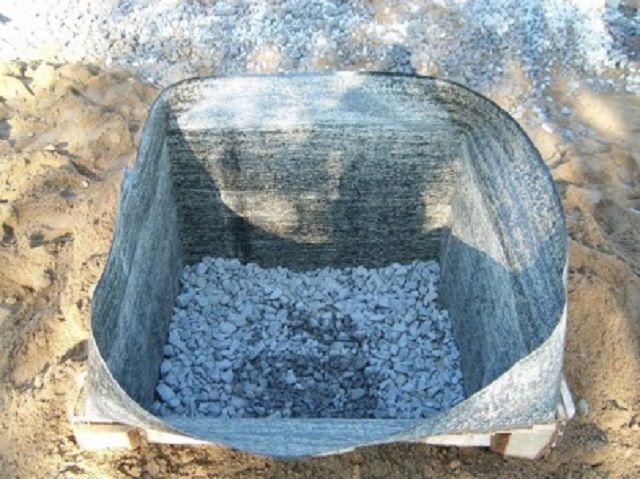 """Котлован под печной фундамент с песчано-гравийной """"подушкой"""""""
