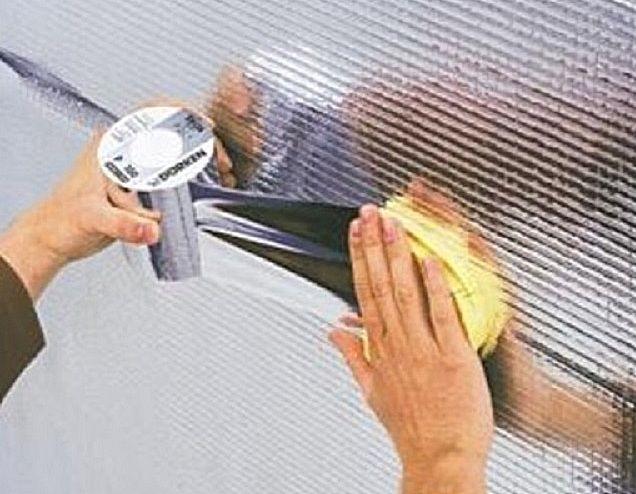 Герметизация стыков покрытия