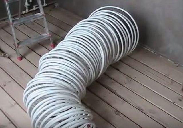Потребуется определенное количество трубы одной бухтой