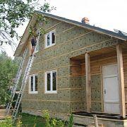 Утепление деревянного дома снаружи минватой под сайдинг