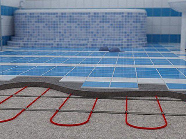 Электрический теплый пол под плитку технология укладки