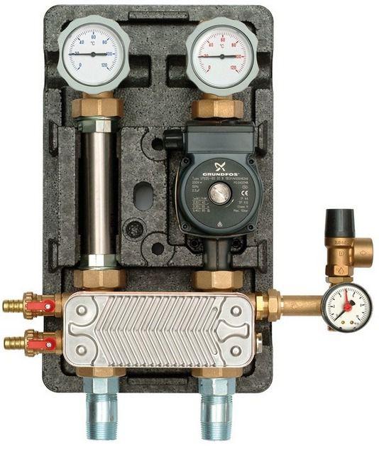 Отбор тепла может происходить и через теплообменник