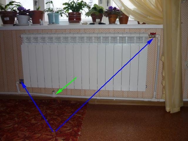 """Радиатор подключен к """"ленинградке"""""""