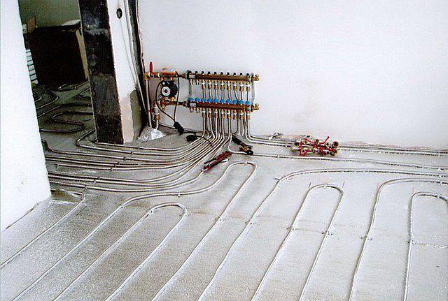 Теплые полы водяные монтажные схемы в квартире