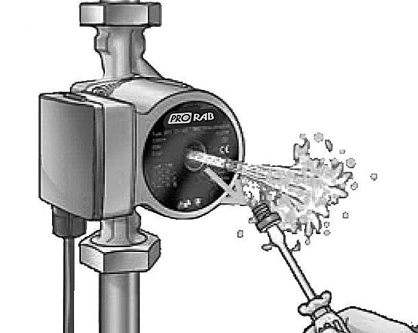 Выпуск воздуха и заполнение насоса теплоносителем