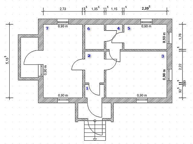 Основой для расчетов послужит план дома или квартиры