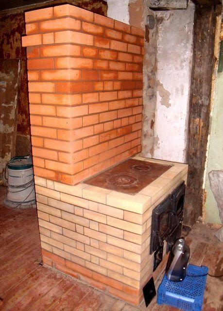 Печь с выступающей кухонной плитой