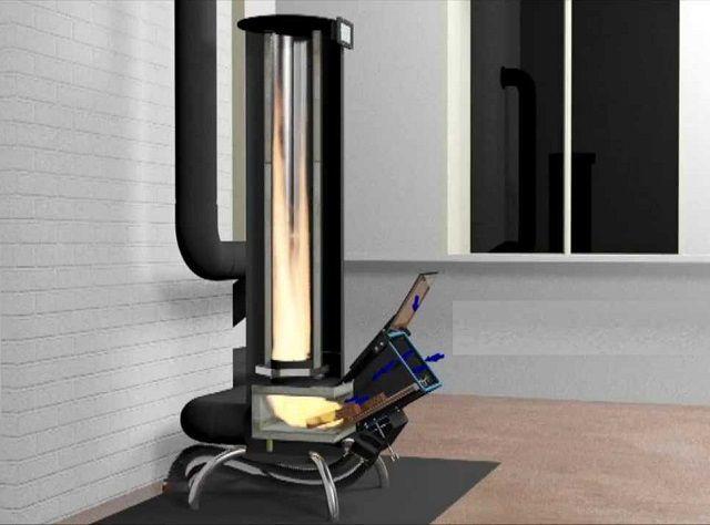 Усовершенствованная печь ракетного типа
