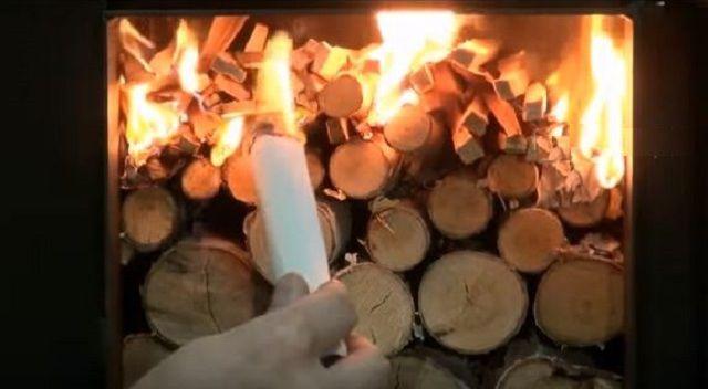 После того, как дрова сверху разгорятся, и в топке создадутся нужные температурные условия, поступление первичного воздуха сводят к минимуму