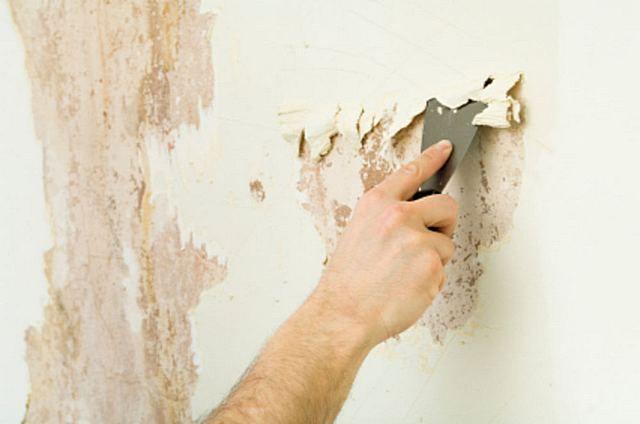 Очистка поверхности стены от старых покрытий