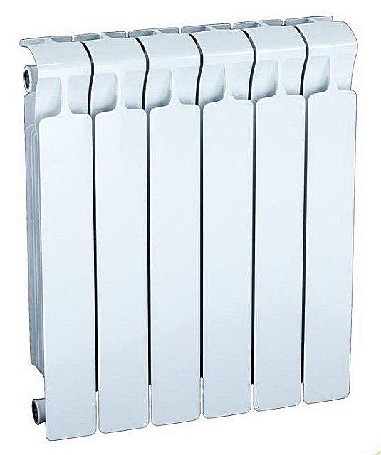 Радиатор «Rifar Monolit» 500, с боковым подключением, состоящий из 6 секций.