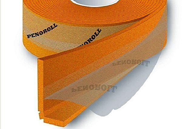 Г-образная демпферная лента идеально закрывает стык двух плоскостей – стены и пола