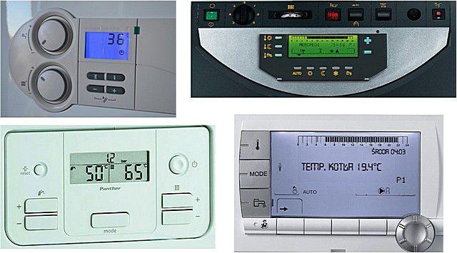 Панели управления современного газового отопительного оборудования с возможностями программирования режимов работы
