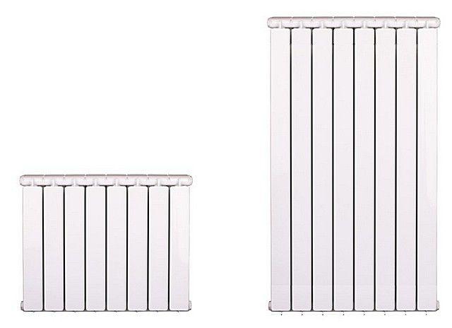 Однотипные по базовой конструкции, но различные по исполнению радиаторы: слева – традиционный, справа – тот, который можно отнести к вертикальным
