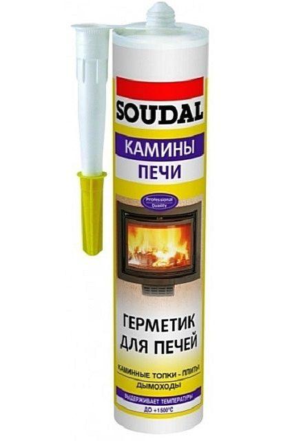 Популярный среди печников жаростойкий герметик «SOUDAL»