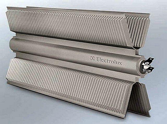 Нагревательный элемент современного электрического конвектора компании «Electrolux»