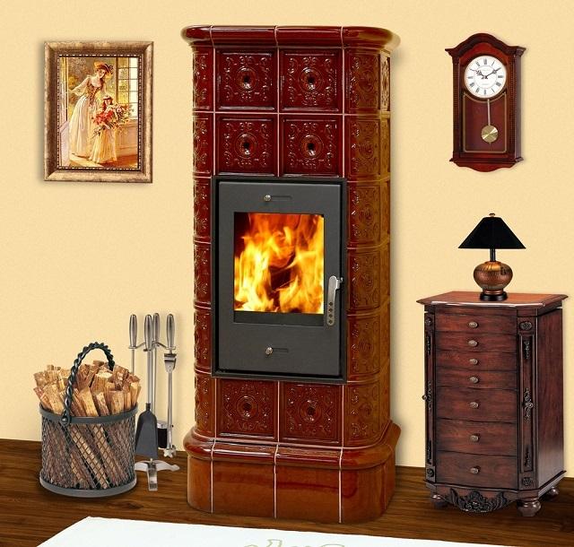 Печи, облицованные керамическими плитами, дольше сохраняют и отдают тепло в комнаты.