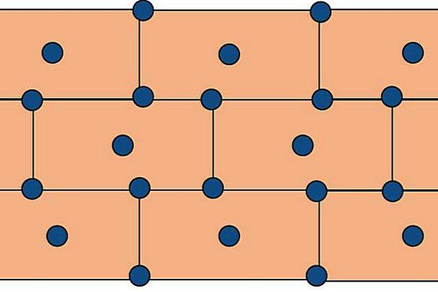 Рекомендуемый вариант размещения дюбелей-«грибков». Примерный расход – 6 штук на квадратный метр.