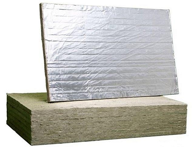 Маты базальтовой ваты с фольгированным слоем.
