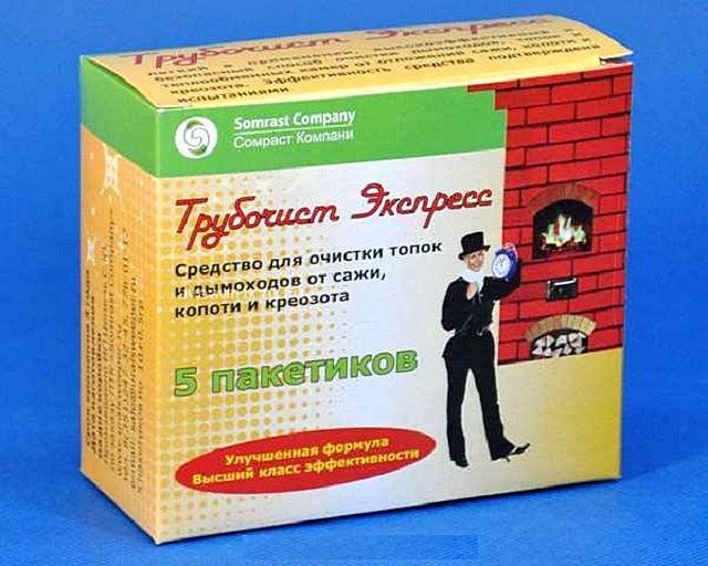 Специальное химическое средство для очистки внутренних поверхностей печи от сажных отложений.