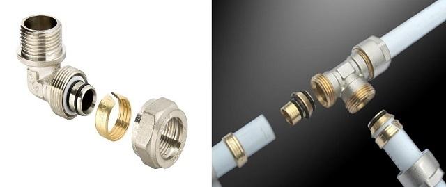 Цанговые соединения более просты при монтаже трубопровода, но менее надежны в эксплуатации.