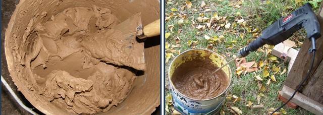 Мастера-печники обычно готовят кладочный раствор самостоятельно. Но им помогает в этом накопленный годами опыт.