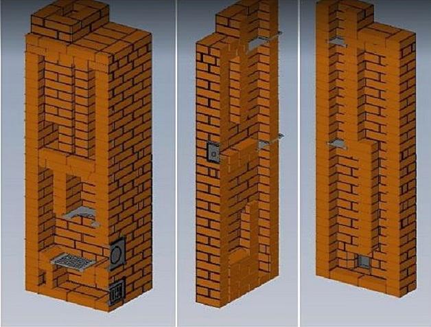 Печь в разрезе – как видно, конструкция не имеет сложных лабиринтов
