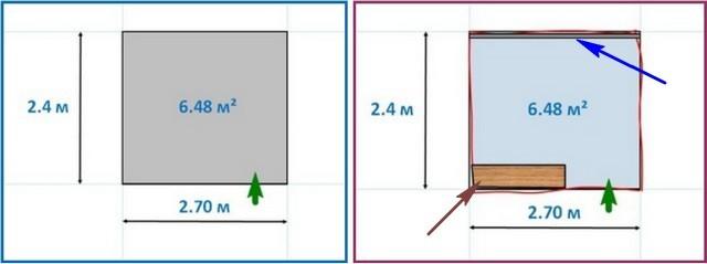 Особенности комнаты, в которой проводился ремонт