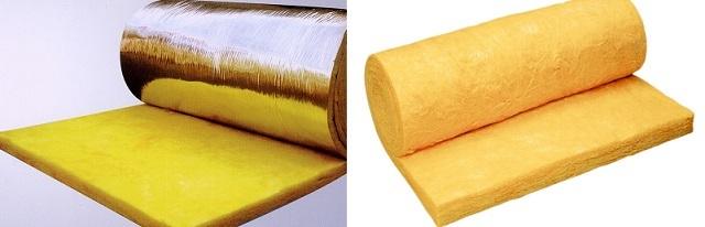 Плиты или маты стекловаты обычно отличает явный желтоватый оттенок