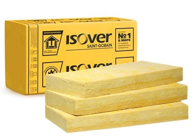 Блоки стекловаты – обычно этот материал выделяет характерный желтоватый оттенок