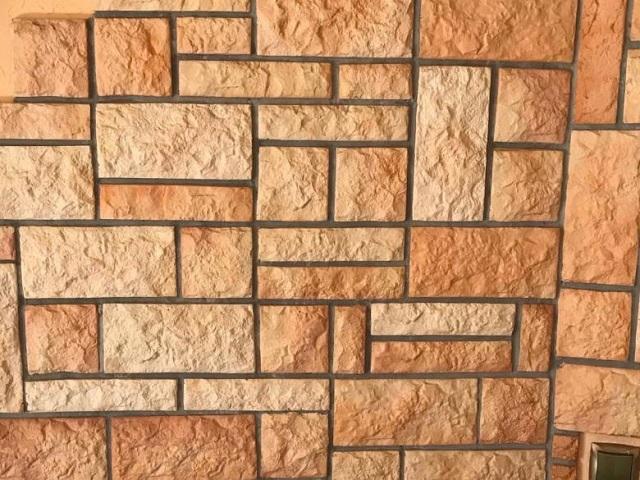 Терракотовая плитка с имитацией каменной кладки