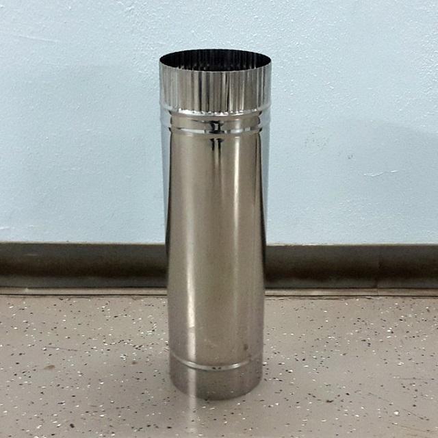 Круглая нержавеющая труба для гильзования дымохода.