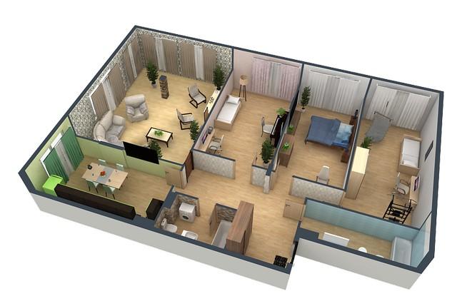 У каждого помещения дома имеются свои особенности. Поэтому правильнее будет провести расчет необходимой тепловой мощности для каждого из них по отдельности, с последующим суммированием результатов.