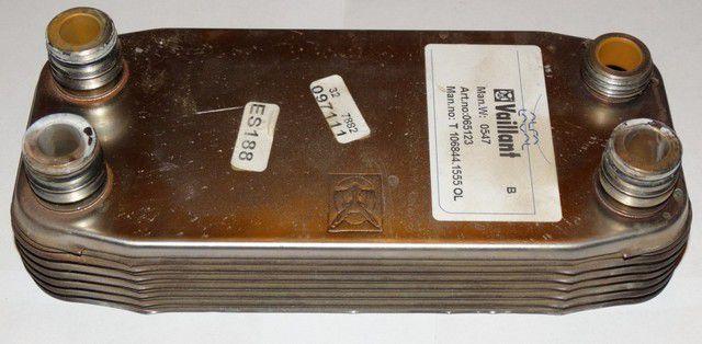 Вторичный теплообменник - более компактный, пластинчатого типа