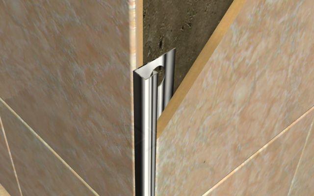Профиль для облицовки внешних углов плиточной кладки