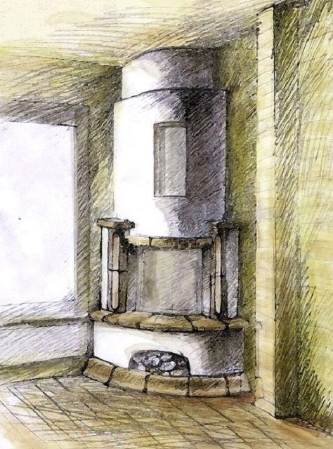 Предварительный эскиз будущего камина