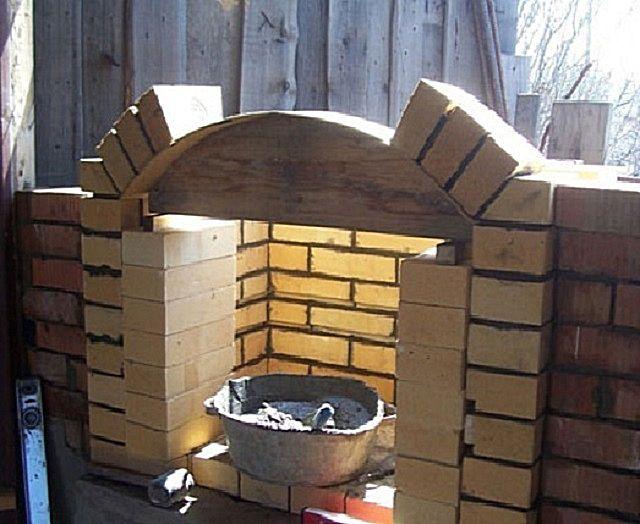 Установка шаблона для выкладывания арки