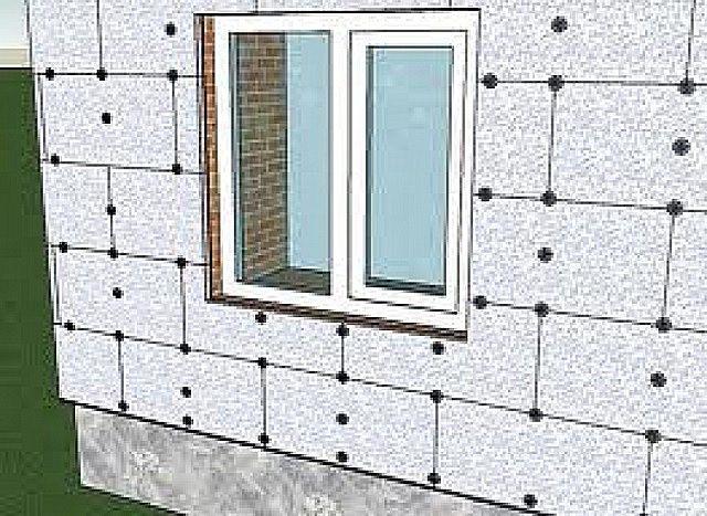 Примерная схема расположения плит на стене