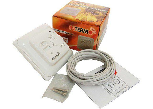 Терморегулятор с датчиком не входят в стандартный комплект электрического теплого пола