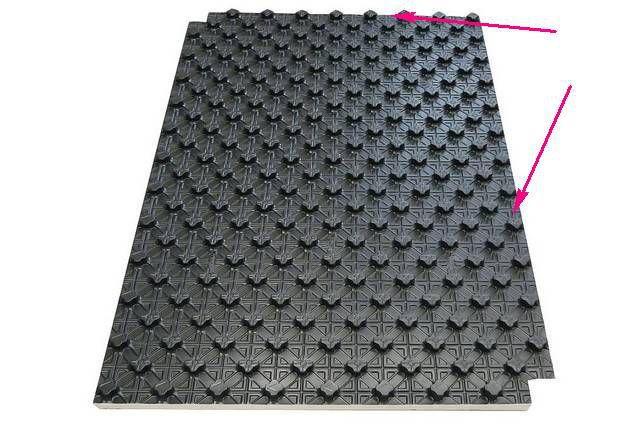 Профильный мат с бобышками и с полимерным покрытием