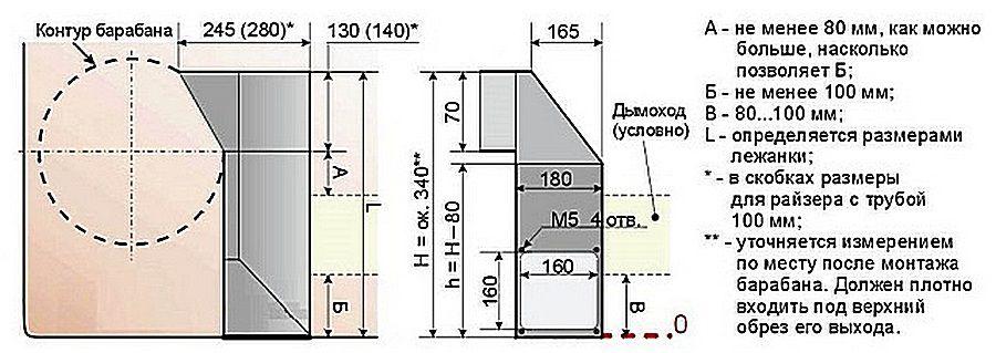 Схема прочистной камеры (кликните по картинке для ее увеличения)