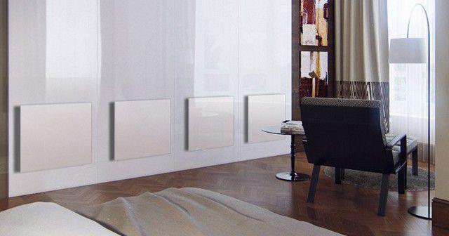Каскад керамических панелей подключен к общему комнатному термостату