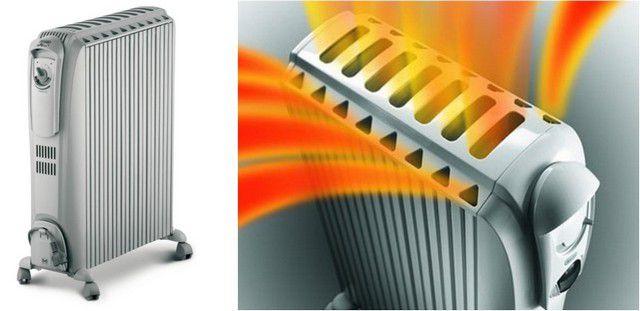 Масляный радиатор с дополнительным вертикальными конвекционными каналами