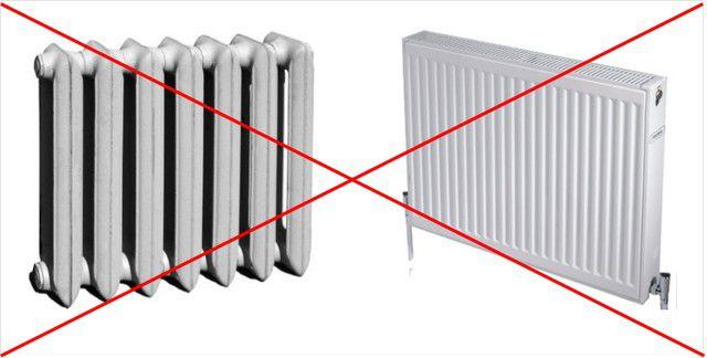 В случае использования электрического котла от стальных или чугунных радиаторов лучше отказаться