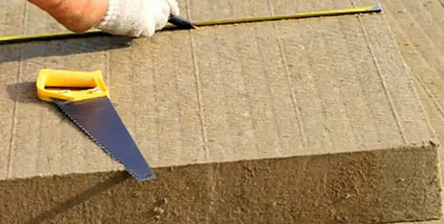 Утеплительные плиты легко поддаются резке в необходимый размер