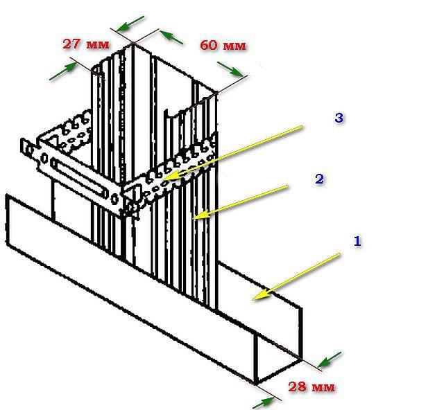 Примерная схема соединительных узлов каркаса