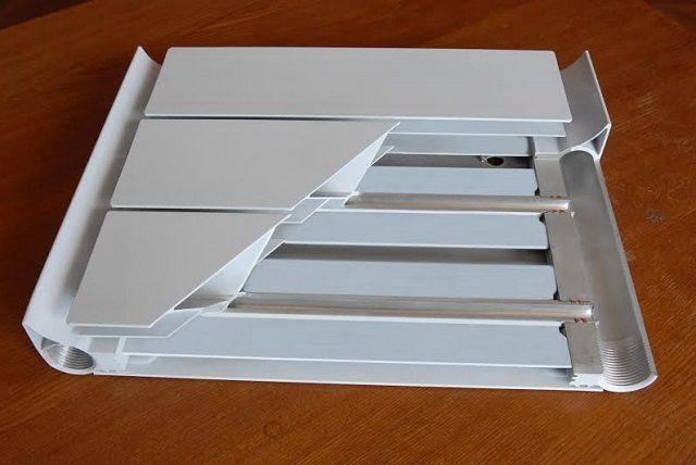 Все детали также изготовлены из алюминия, но это уже не монолитная, а сборная конструкция