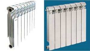 Попробуйте-ка визуально отличить биметаллический радиатор (справа) от алюминиевого. Вот именно … Поэтому при выборе – максимальная внимательность